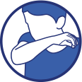 COVID 19 - Tousser ou éternuer dans son coude ou dans un mouchoir